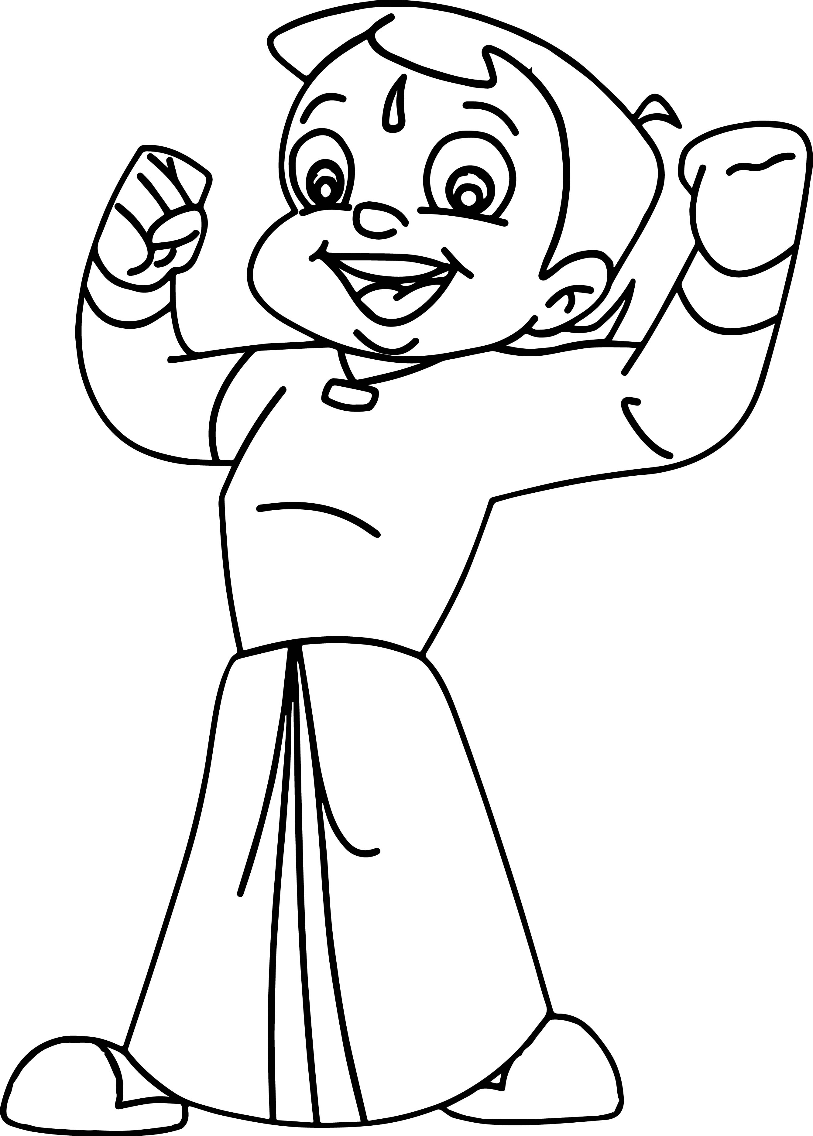 images of coloring pages - chota bheem images