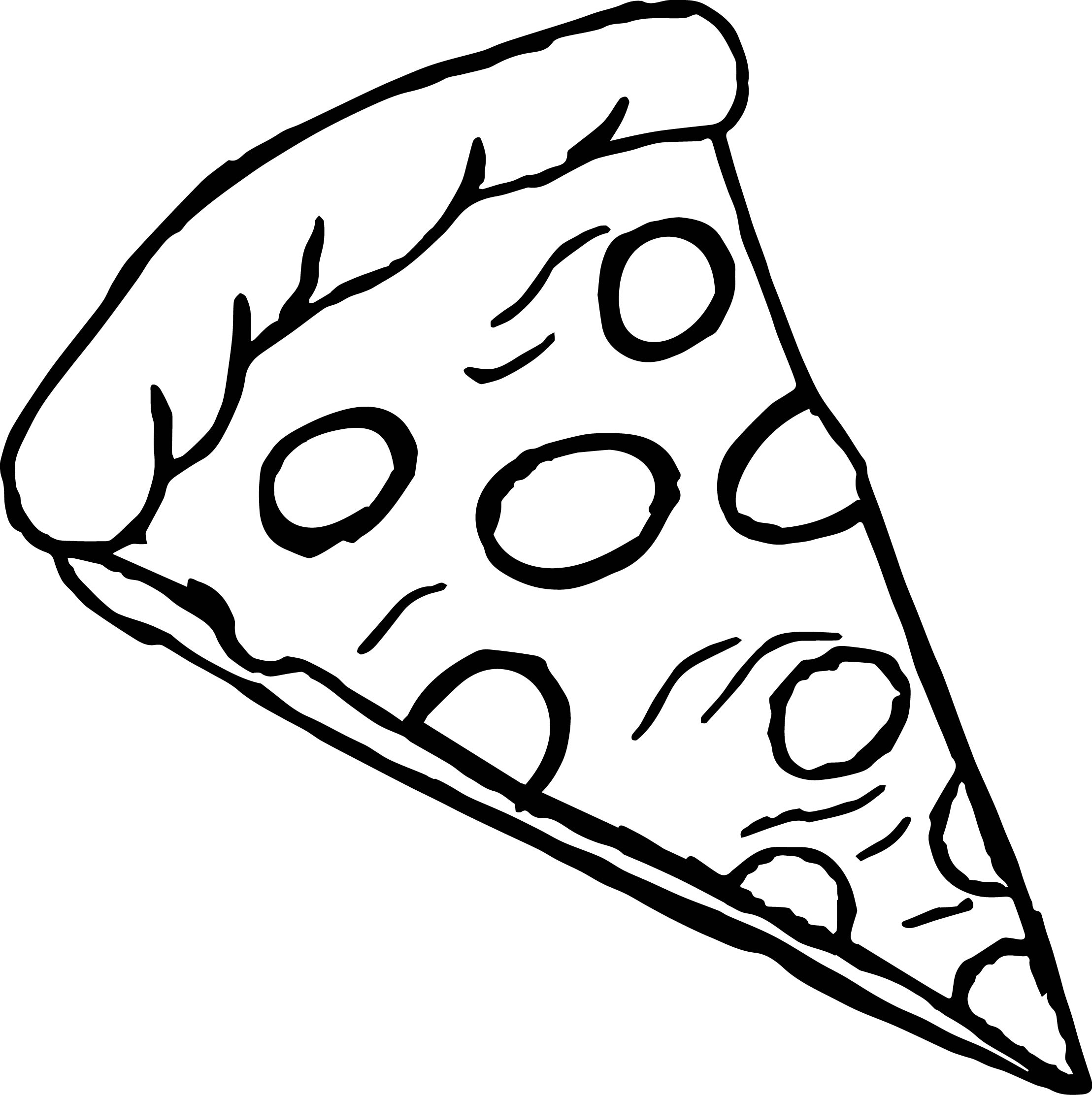 images of coloring pages - pepperoni pizza coloring page