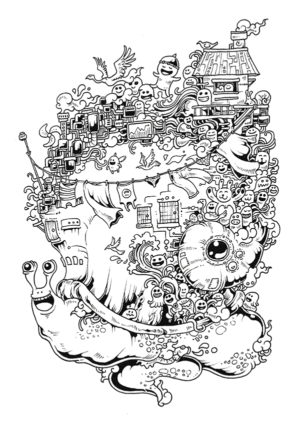 imagimorphia coloring pages - Doodle Invasion Coloring Book