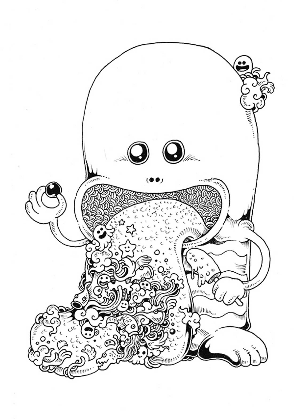 imagimorphia coloring pages - kerby rosanes