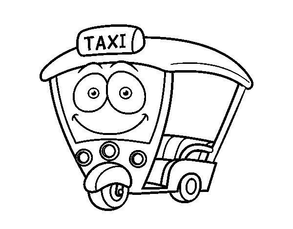 indiana jones coloring pages - moto taxi indiano