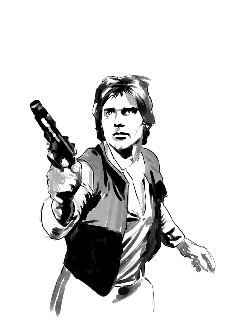 indiana jones coloring pages - DSC Han Solo