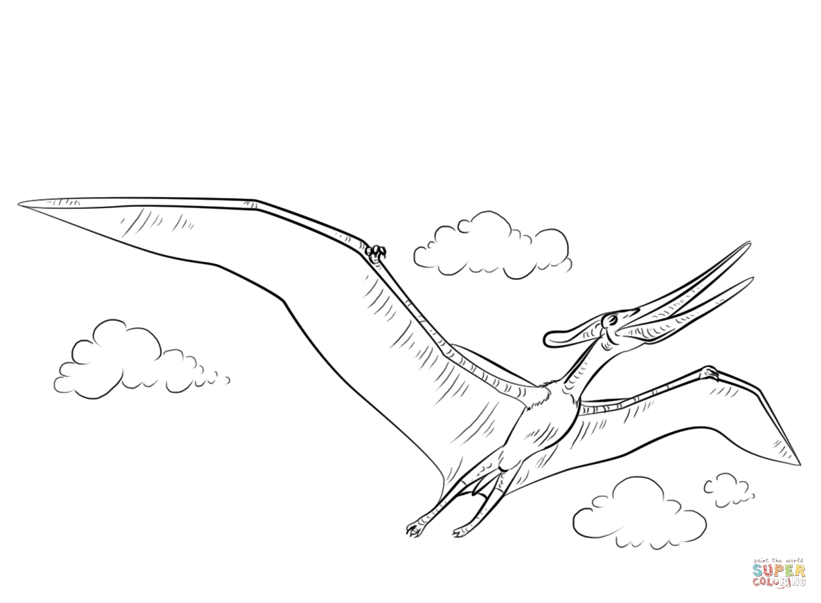 indominus rex coloring page - pteranodon flying