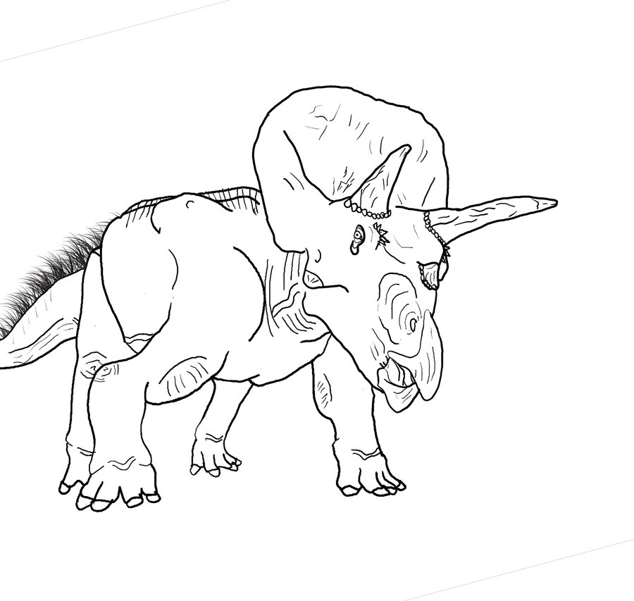 indominus rex coloring page - triceratops coloring page 2