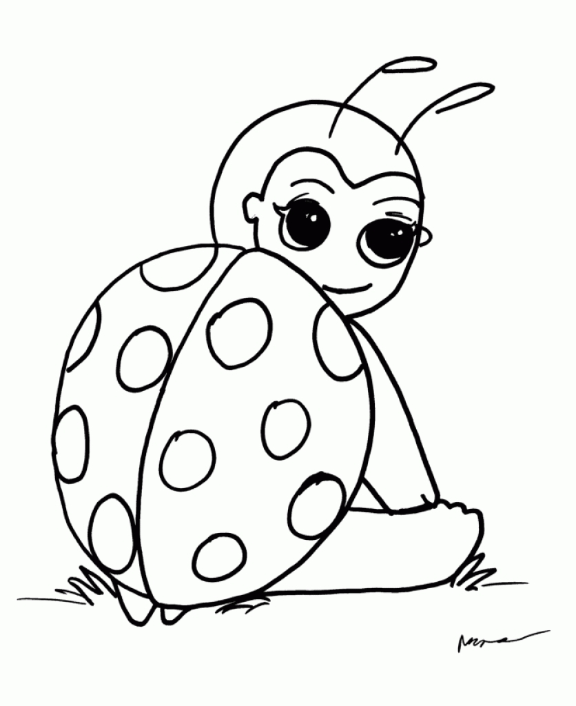 insect coloring pages - cute insect ladybug coloring pages kids