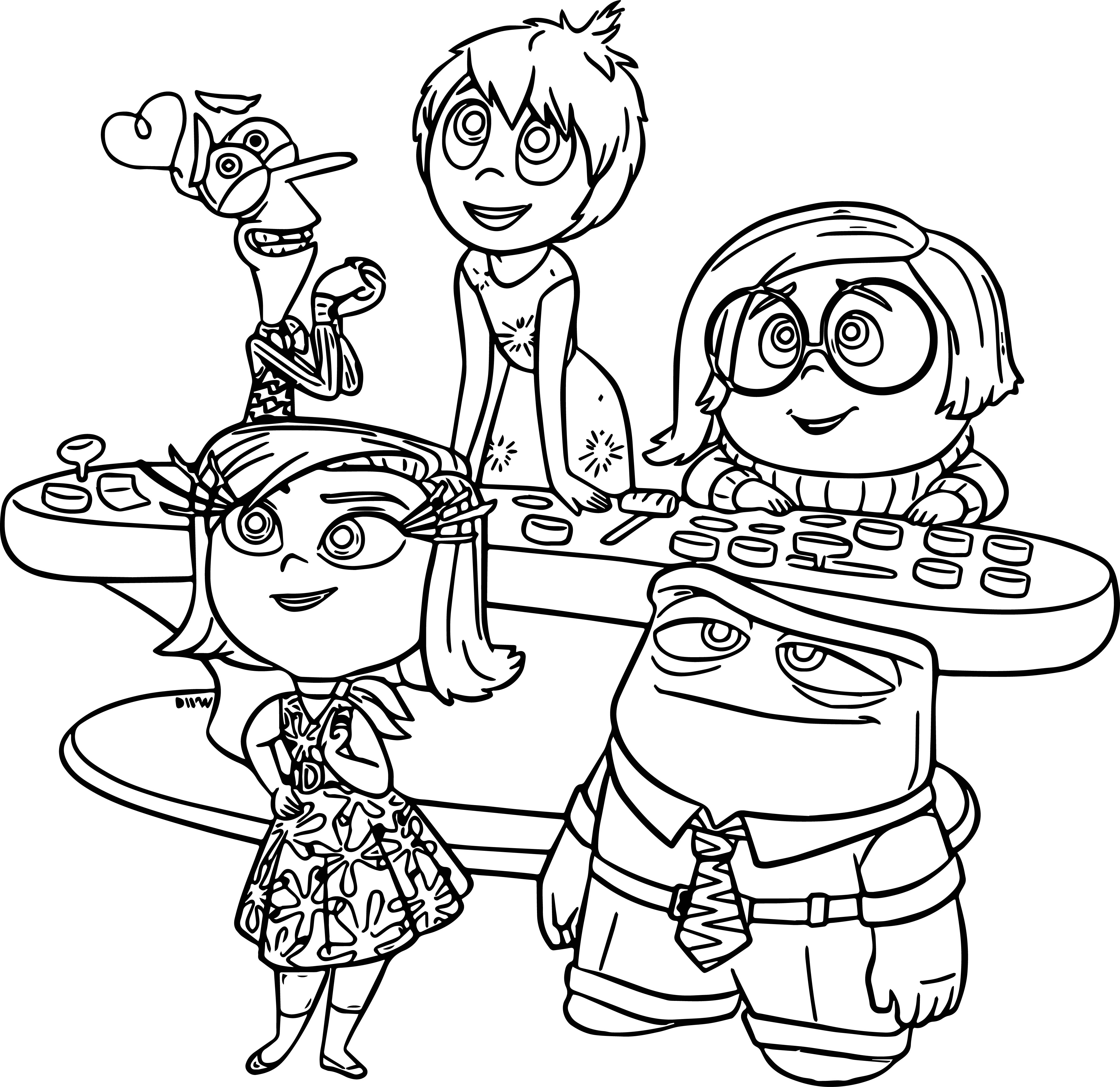 inside out coloring pages - disney pixar inside coloring page