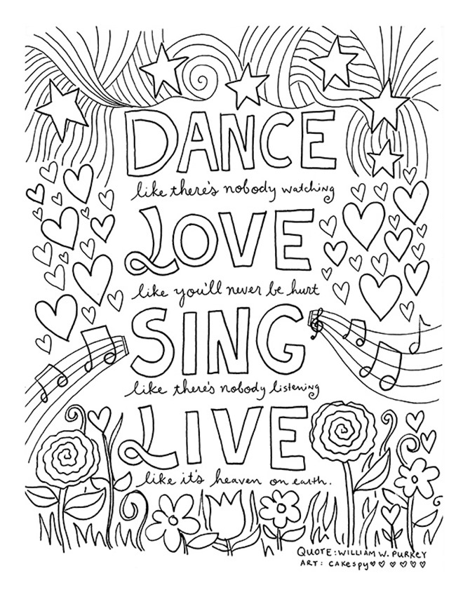 inspirational quotes coloring pages - 12 inspiring quote coloring pages for adults free printables