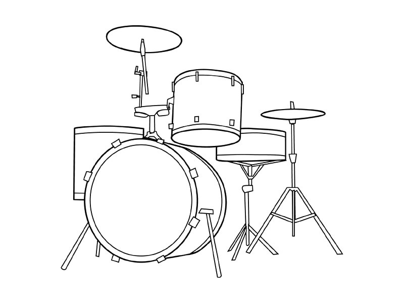 Instrument Coloring Pages - Free Coloring Pages Of Musical Instruments
