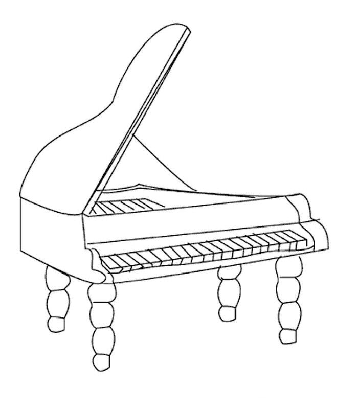 instrument coloring pages - r=music instrument