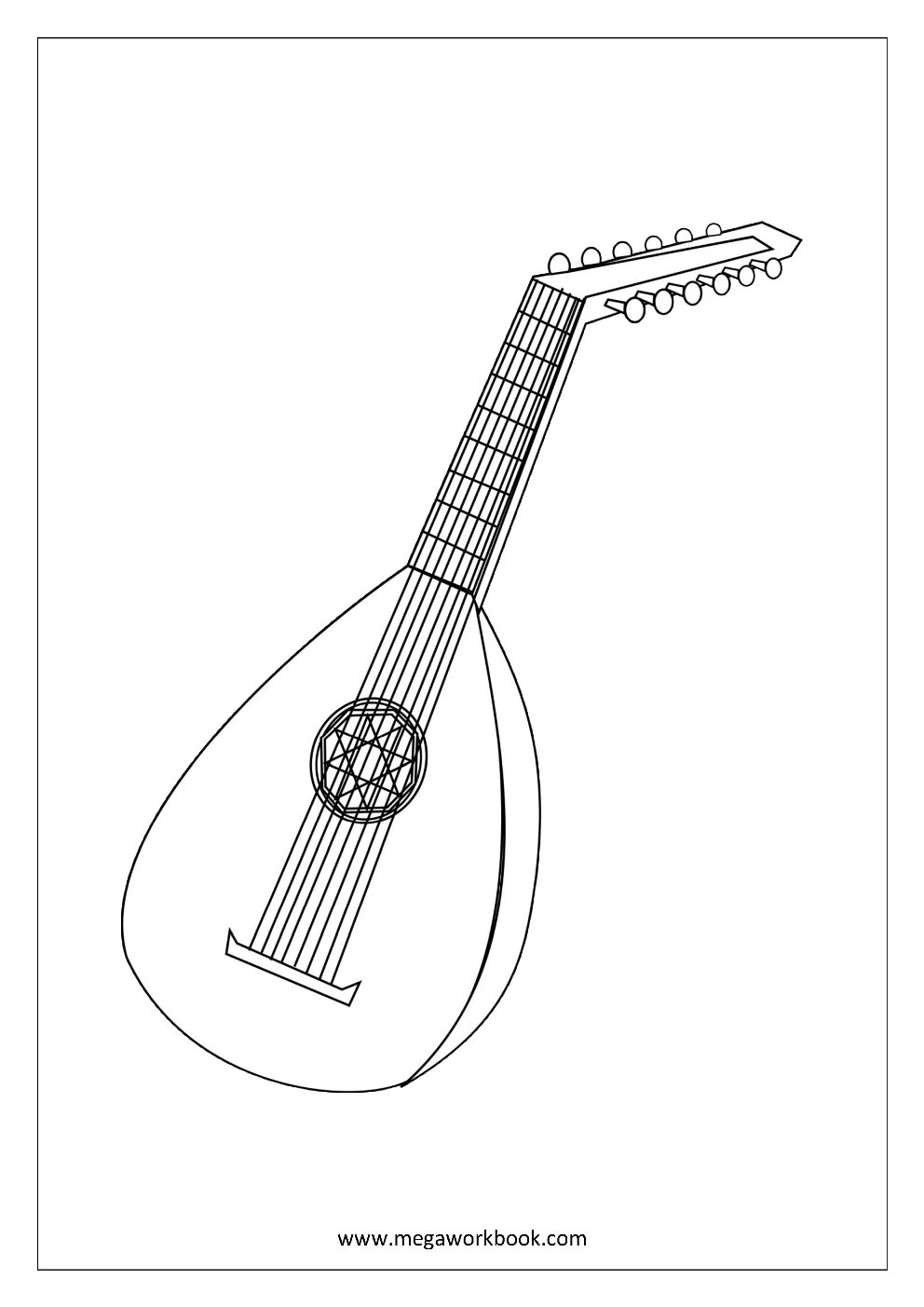 instrument coloring pages - musical instruments coloring pages