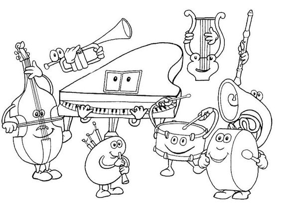 instrument coloring pages -