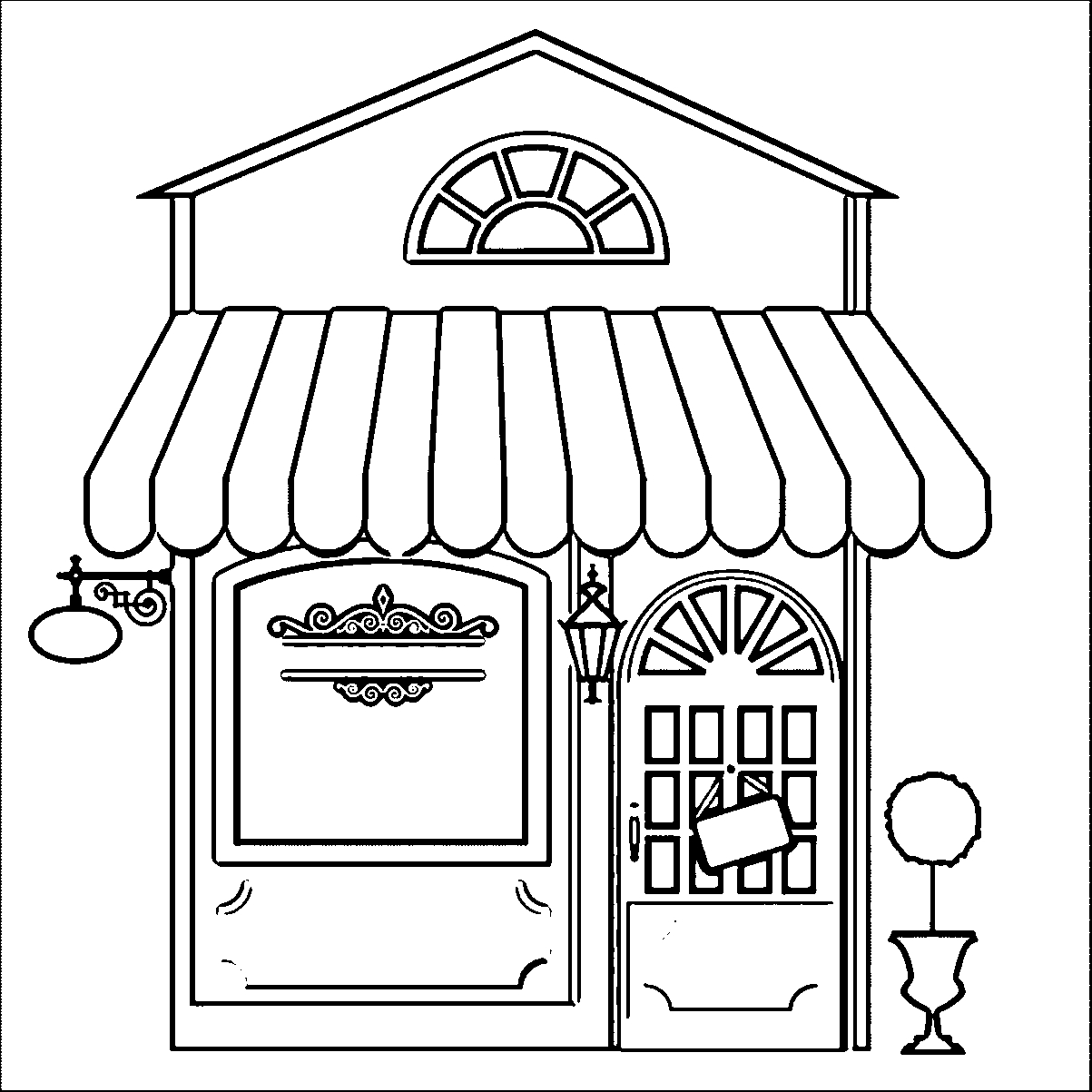 interactive coloring pages for adults - apartment building coloring page