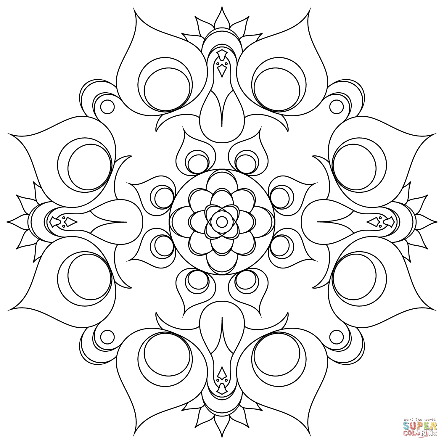 intricate coloring pages - gongjag mandalra