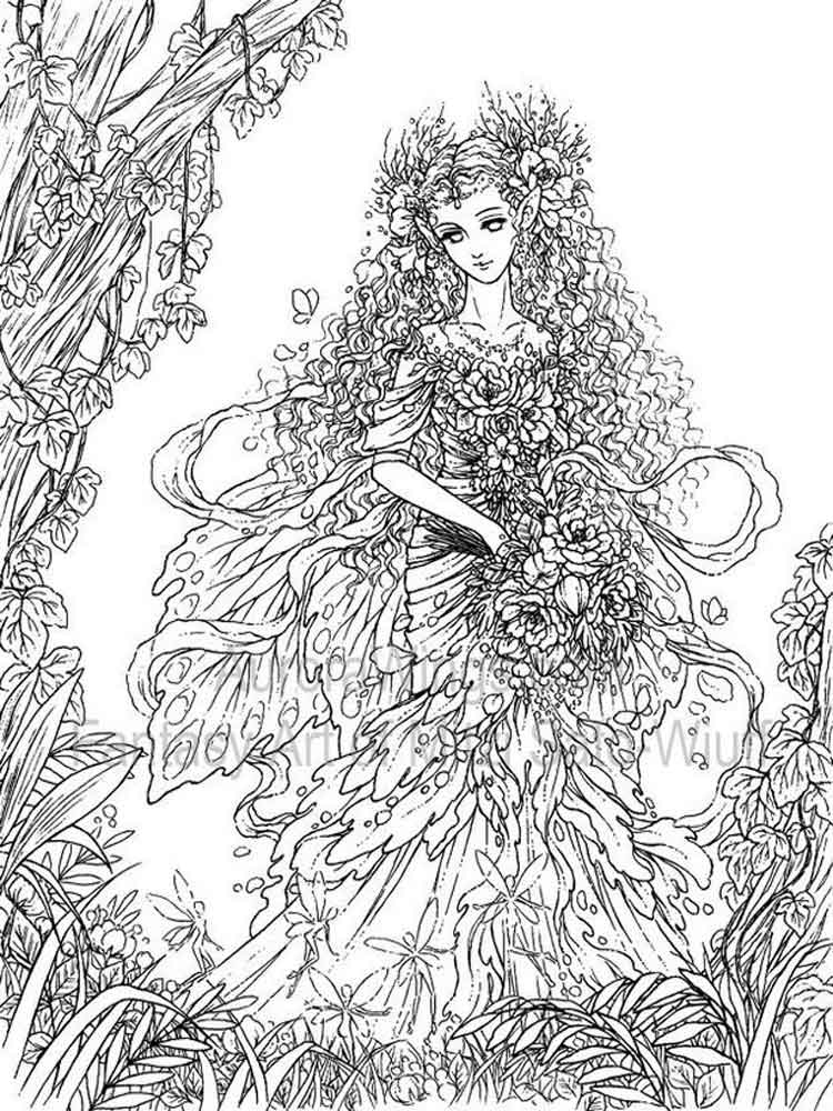 intricate coloring pages - fantasy coloring pages for adult