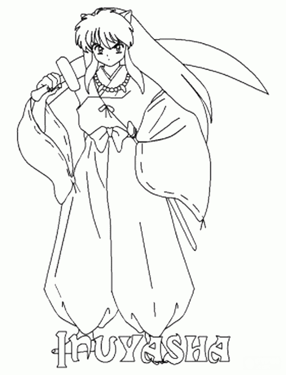 inuyasha coloring pages - 19