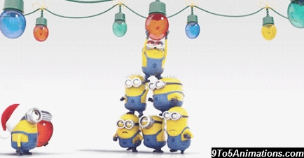 iphone coloring page - funny minions christmas