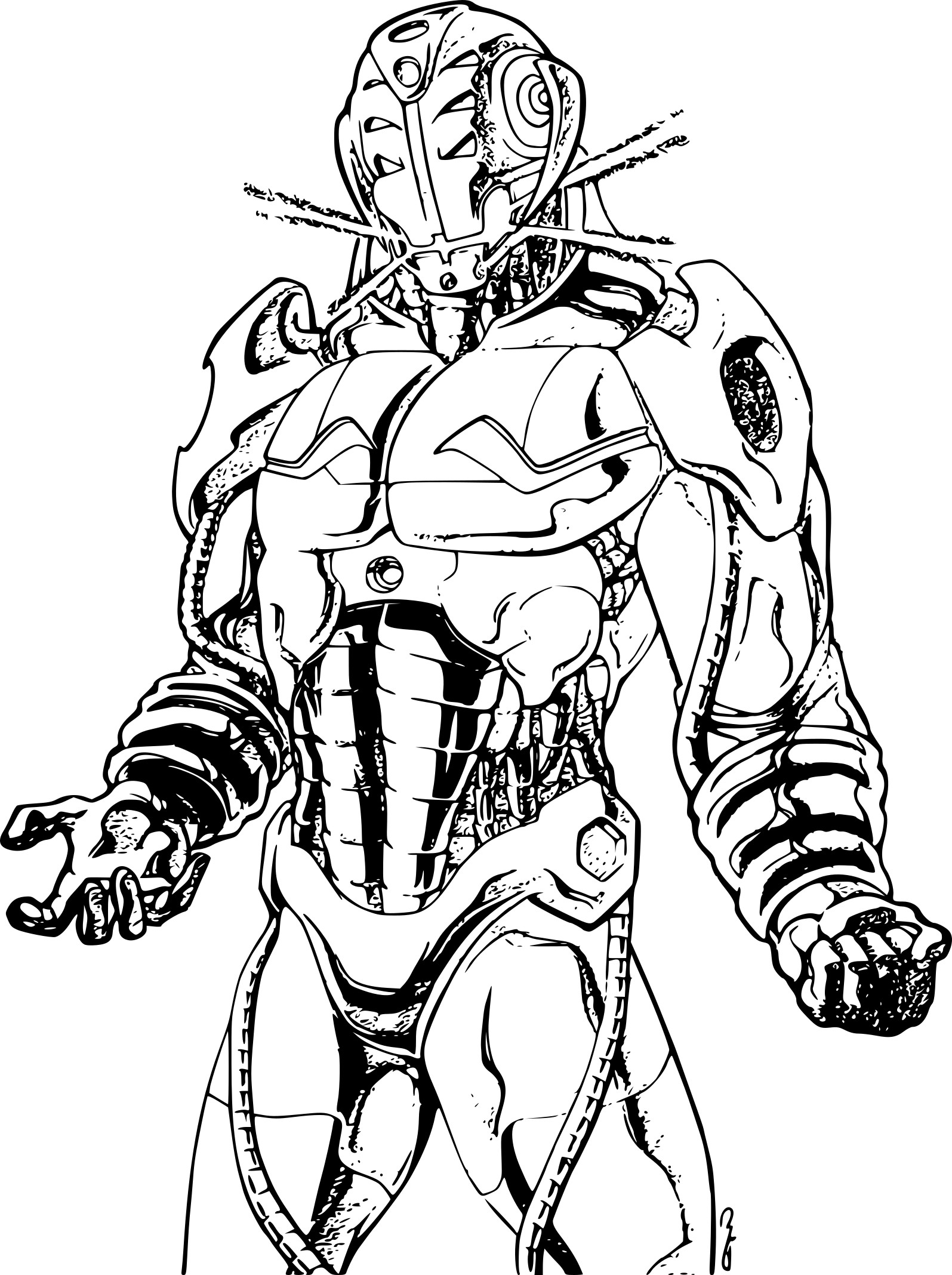 iron man coloring pages - ultron