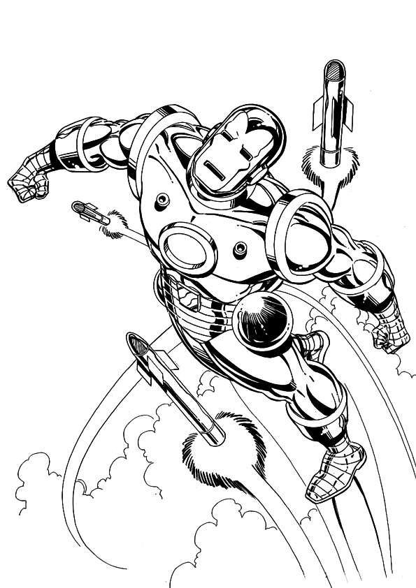 iron man coloring pages - iron man disegni da colorare