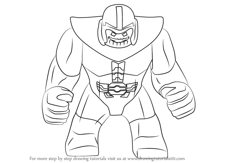 iron man coloring pages - how to draw lego thanos