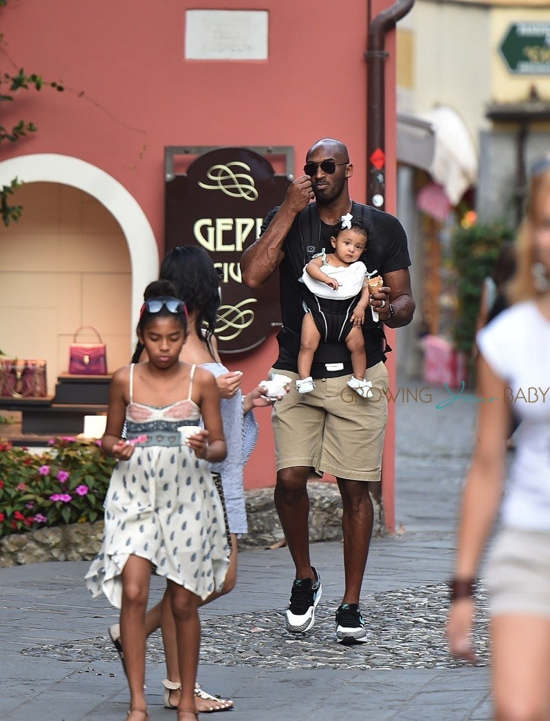 italy coloring pages - former nba superstar kobe bryant and wife vanessa enjoying a vacation with their kids natalia gianna bianka in portofino italy 2