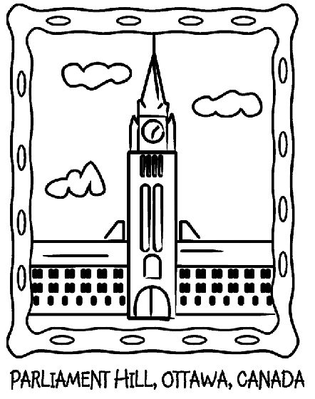 italy flag coloring page - canada parliament hill coloring page