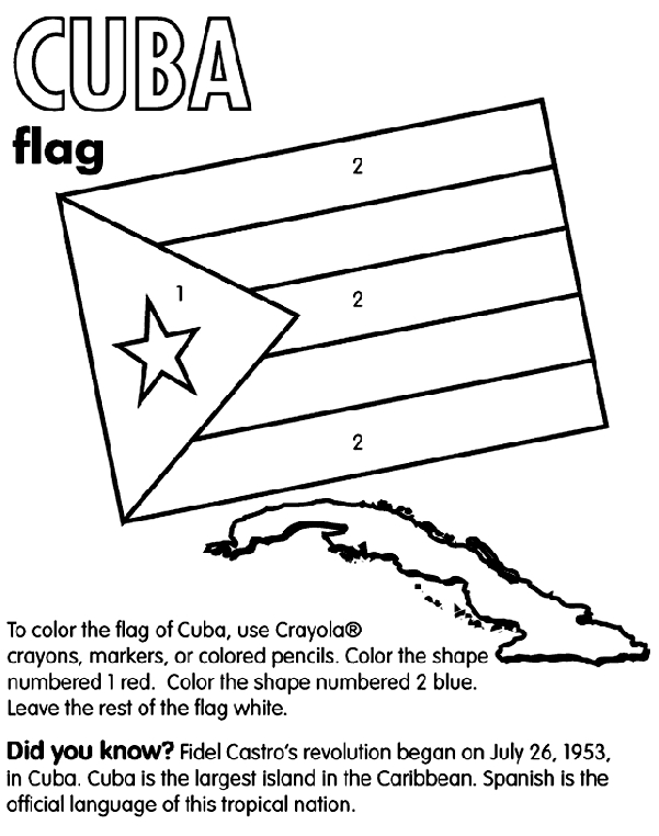 italy flag coloring page - cuba coloring page