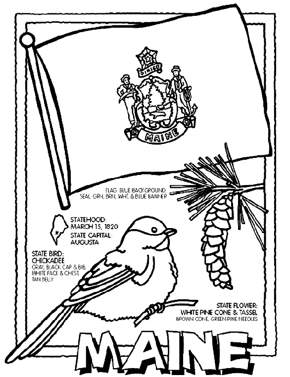 italy flag coloring page - maine coloring page