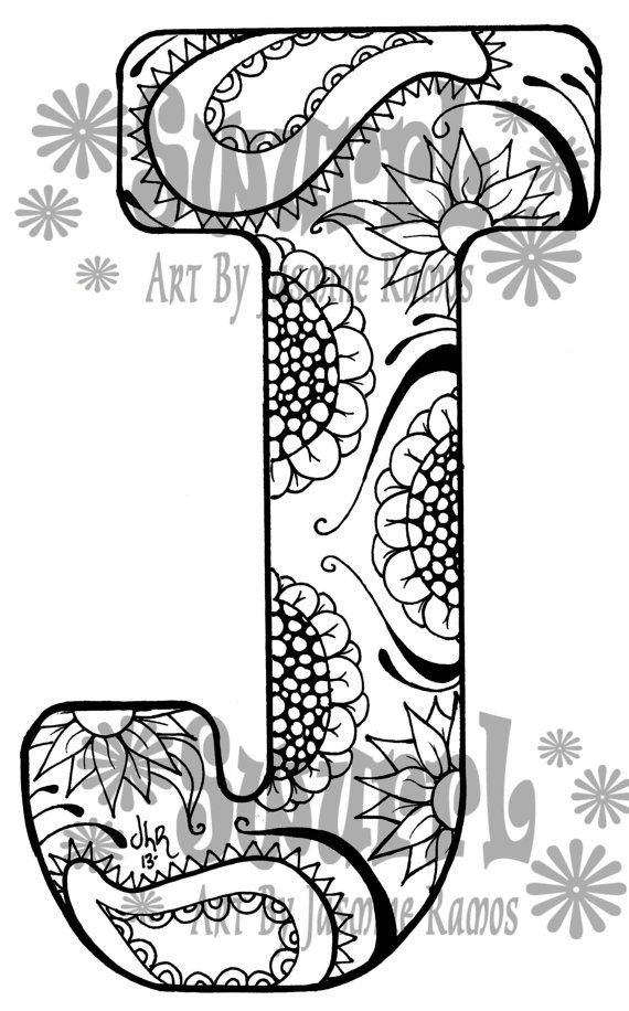 j coloring pages -