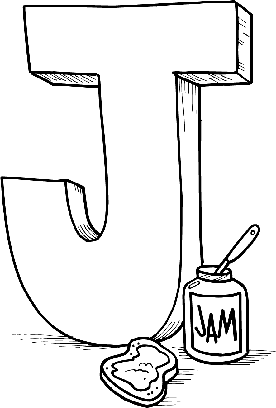 j coloring pages - 704