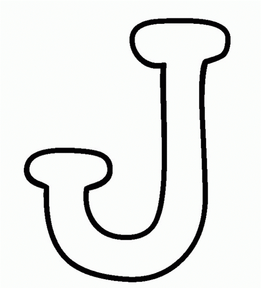 J Coloring Pages - Letter J Coloring