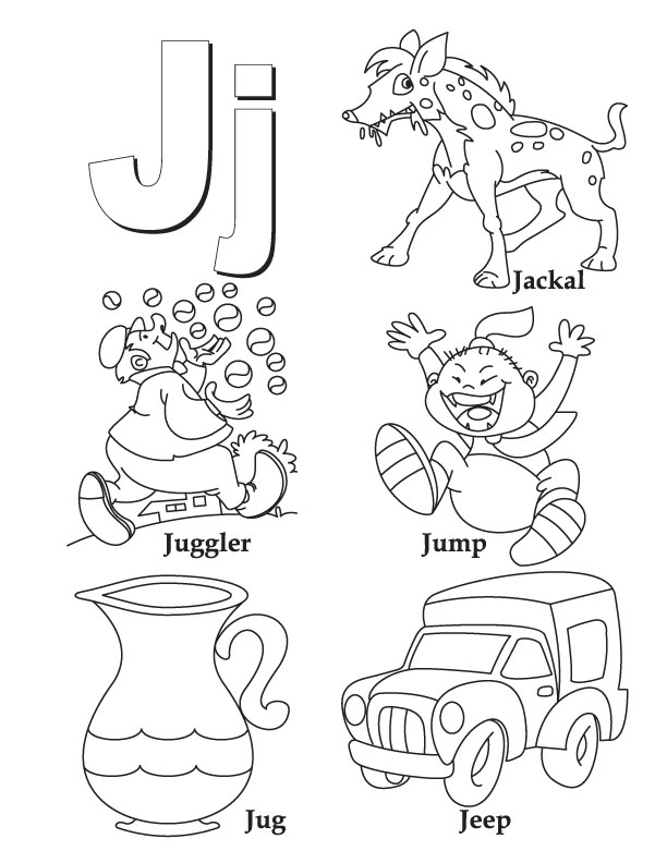 j coloring pages - any