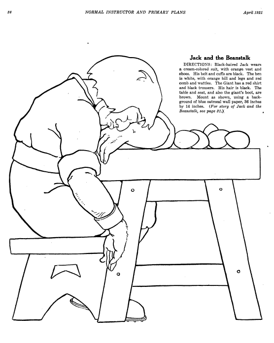 20 Jack And The Beanstalk Coloring Pages Images