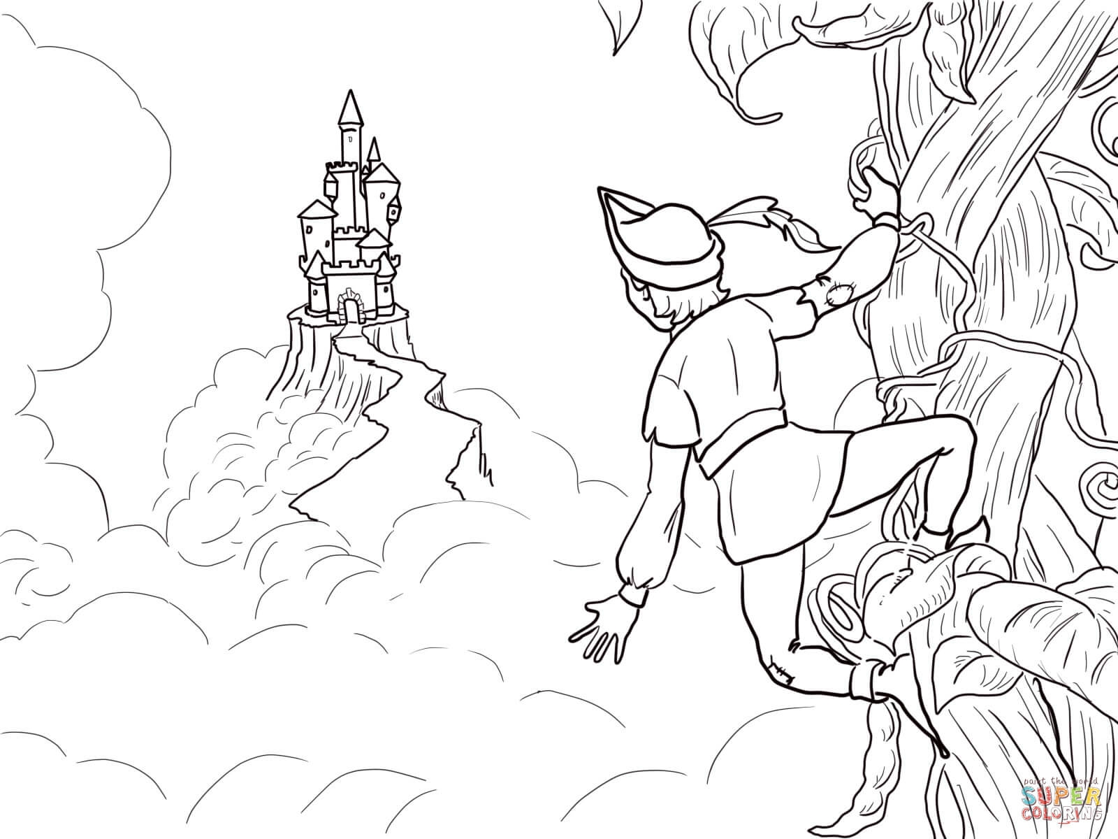 jack and the beanstalk coloring pages - jack and the beanstalk castle