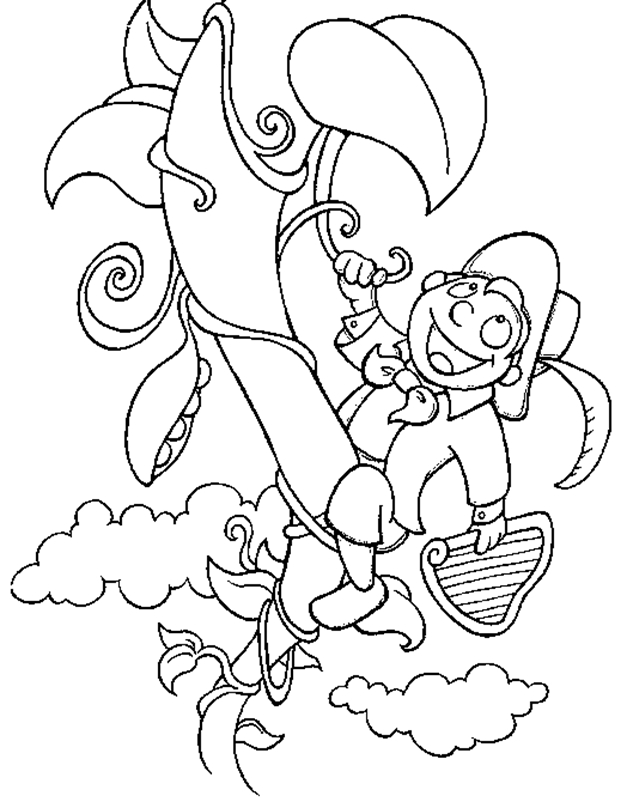 jack and the beanstalk coloring pages - jack and the beanstalk coloring pages