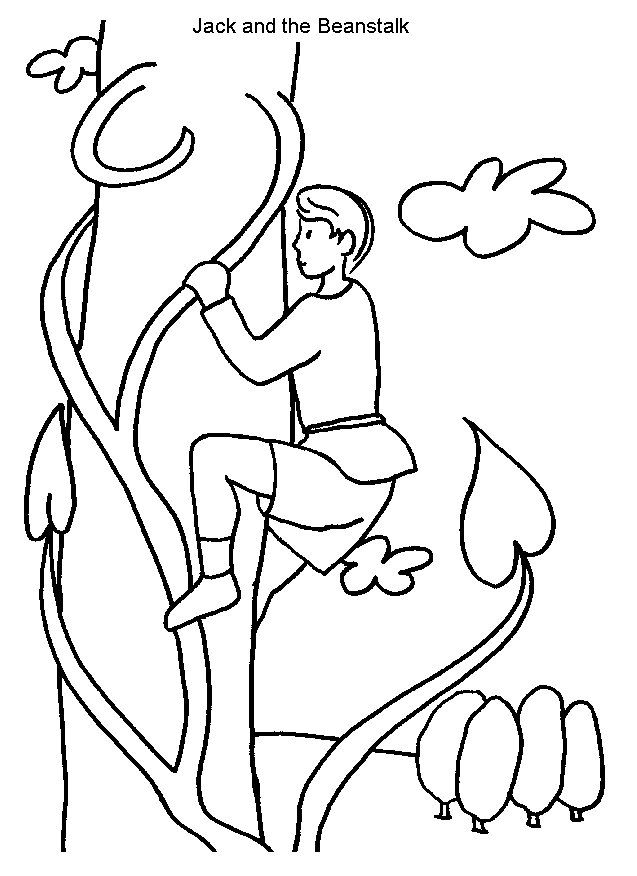 jack and the beanstalk coloring pages - jack and the beanstalk coloring pages sketch templates