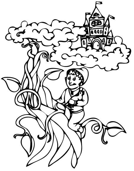 jack and the beanstalk coloring pages - jack and beanstalk coloring page