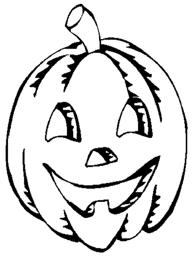 jack o lantern coloring page - jack o lantern cartoon