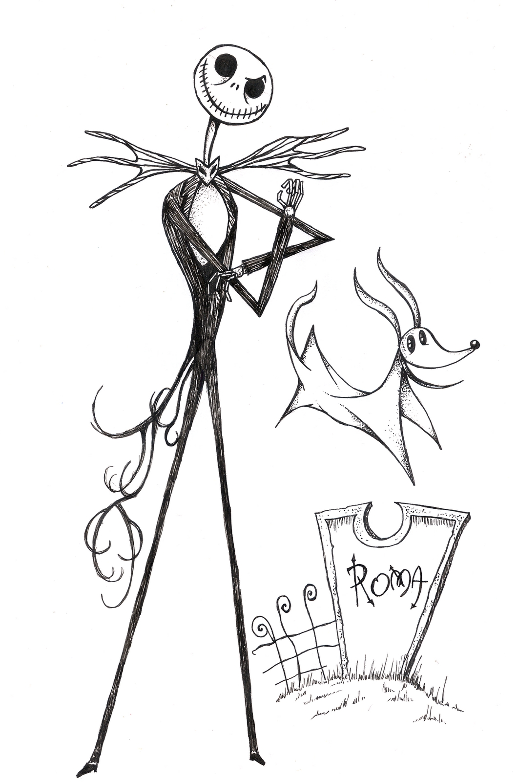 21 Jack Skellington Coloring Page Compilation | FREE COLORING PAGES ...