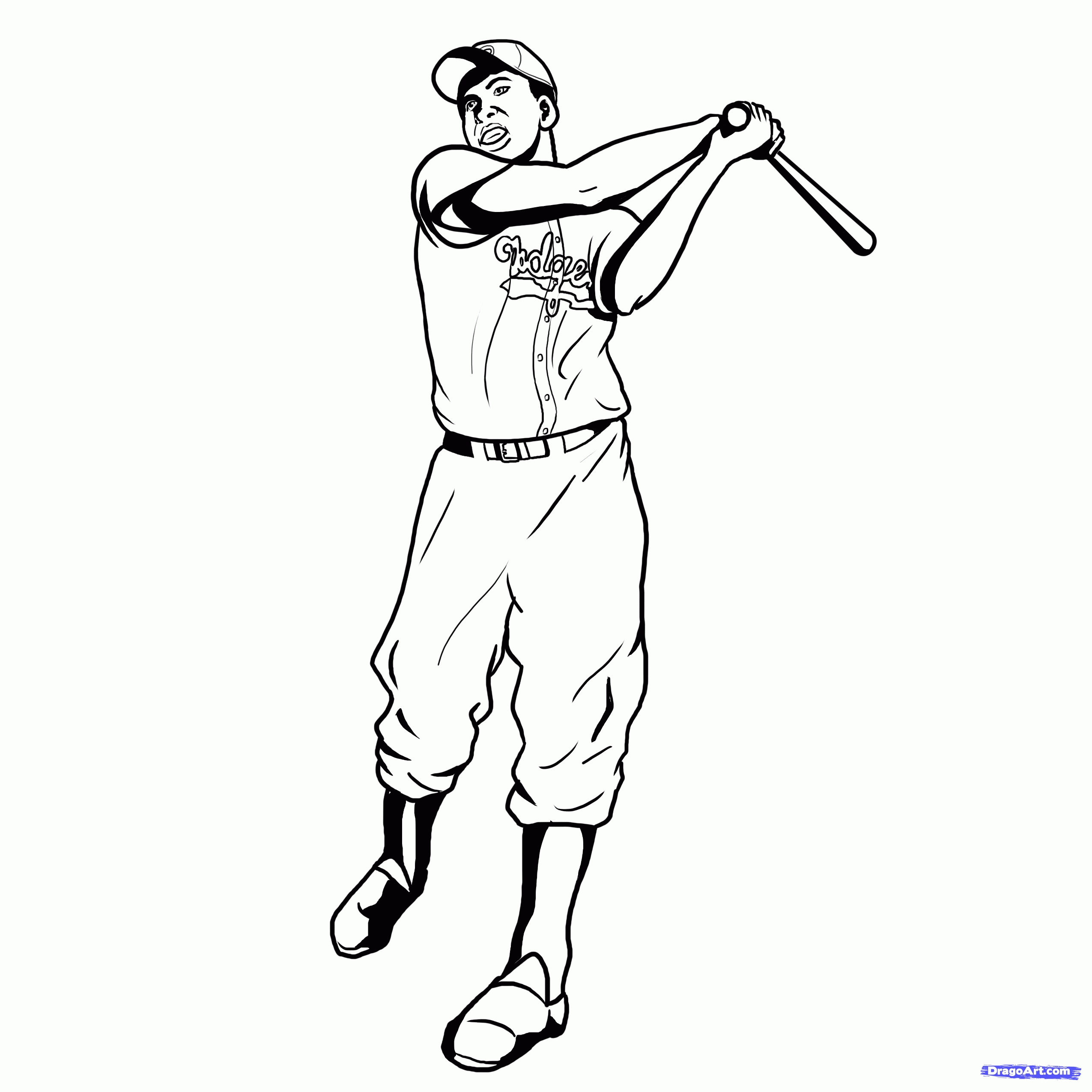 jackie robinson coloring page - jackie robinson coloring page sketch templates