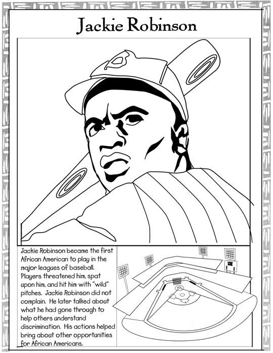 jackie robinson coloring page -
