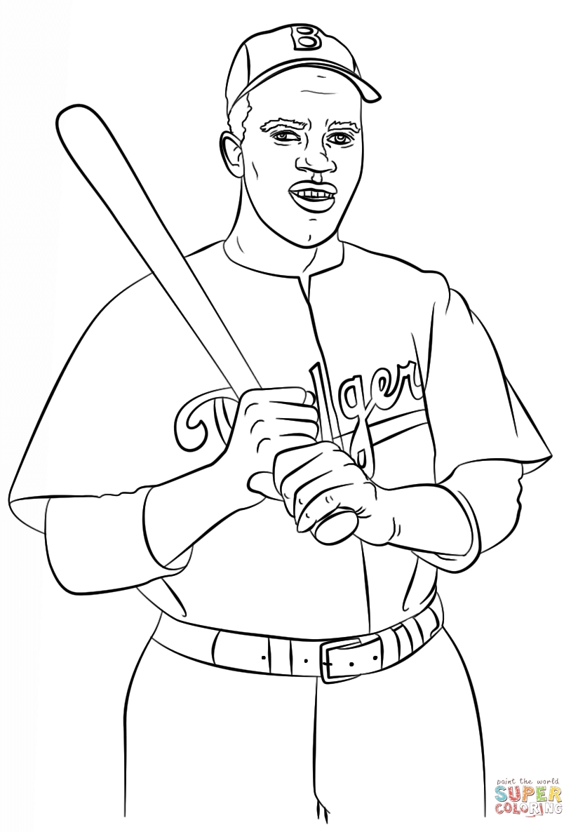 jackie robinson coloring page - tom brady coloring page
