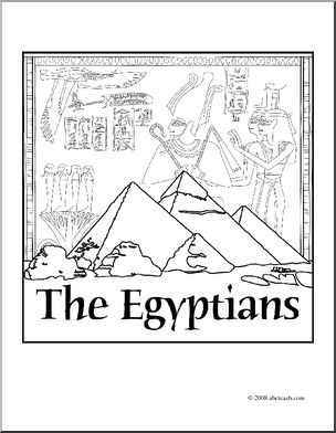 january coloring pages - clip art ancient civilizations the egyptians coloring page