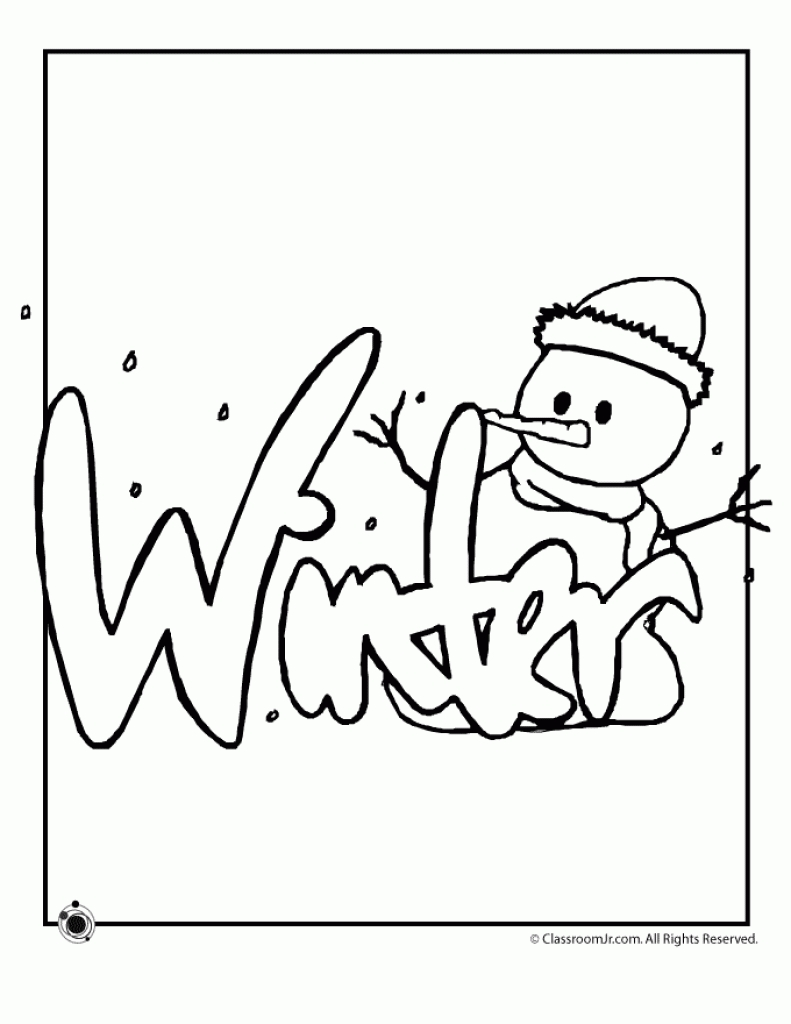 january coloring pages - winter coloring
