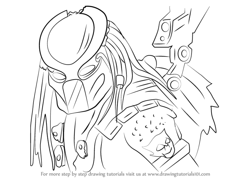 jason coloring pages - how to draw predator from mortal kombat x