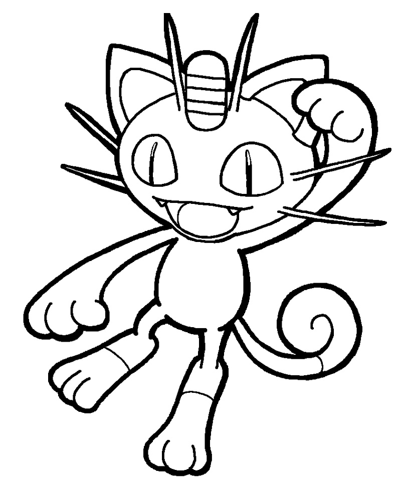 jason coloring pages - pokemon meowth coloring pages images