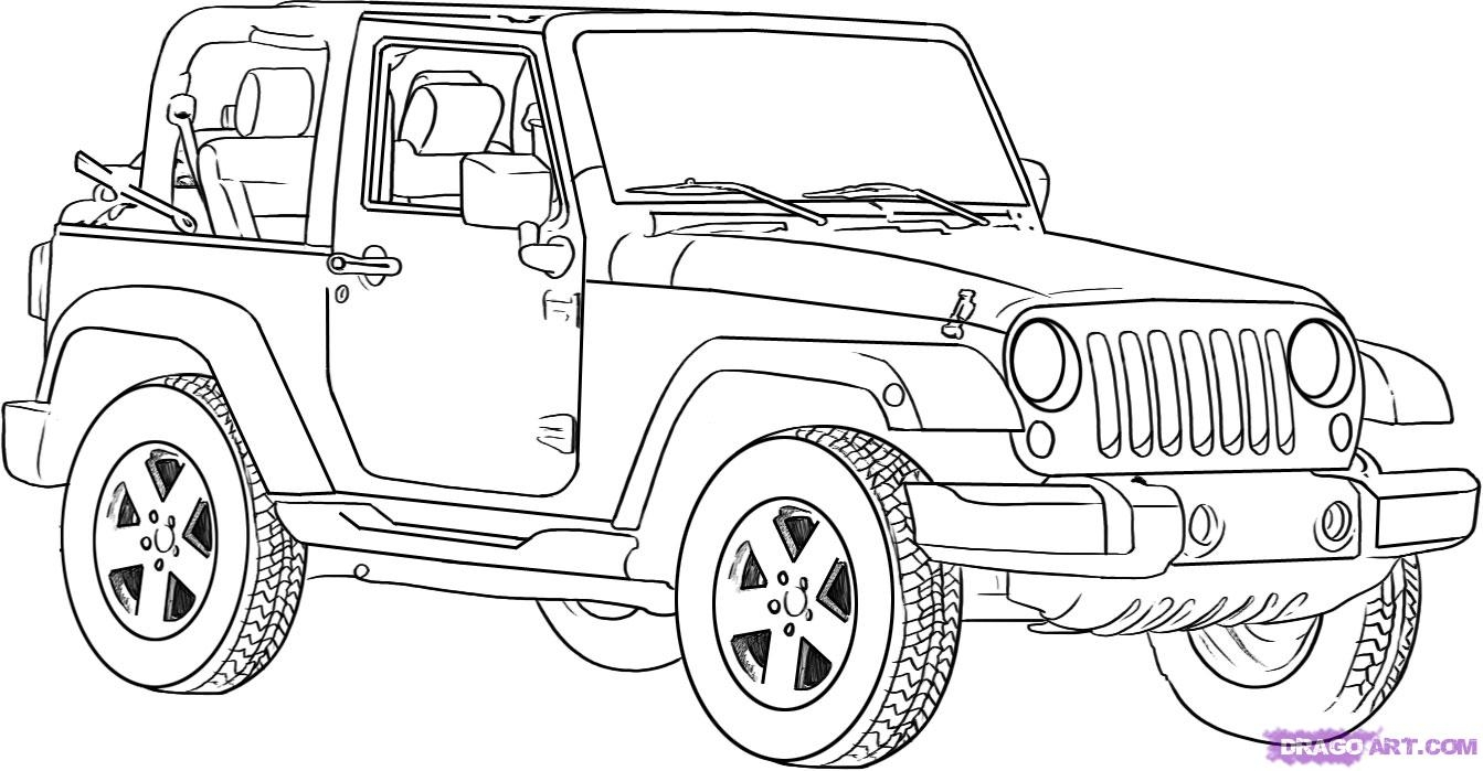 jeep coloring pages - jeep coloring templates sketch templates