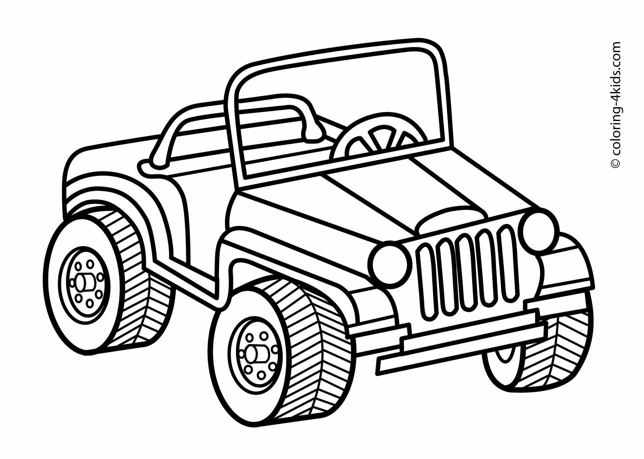 jeep coloring pages -