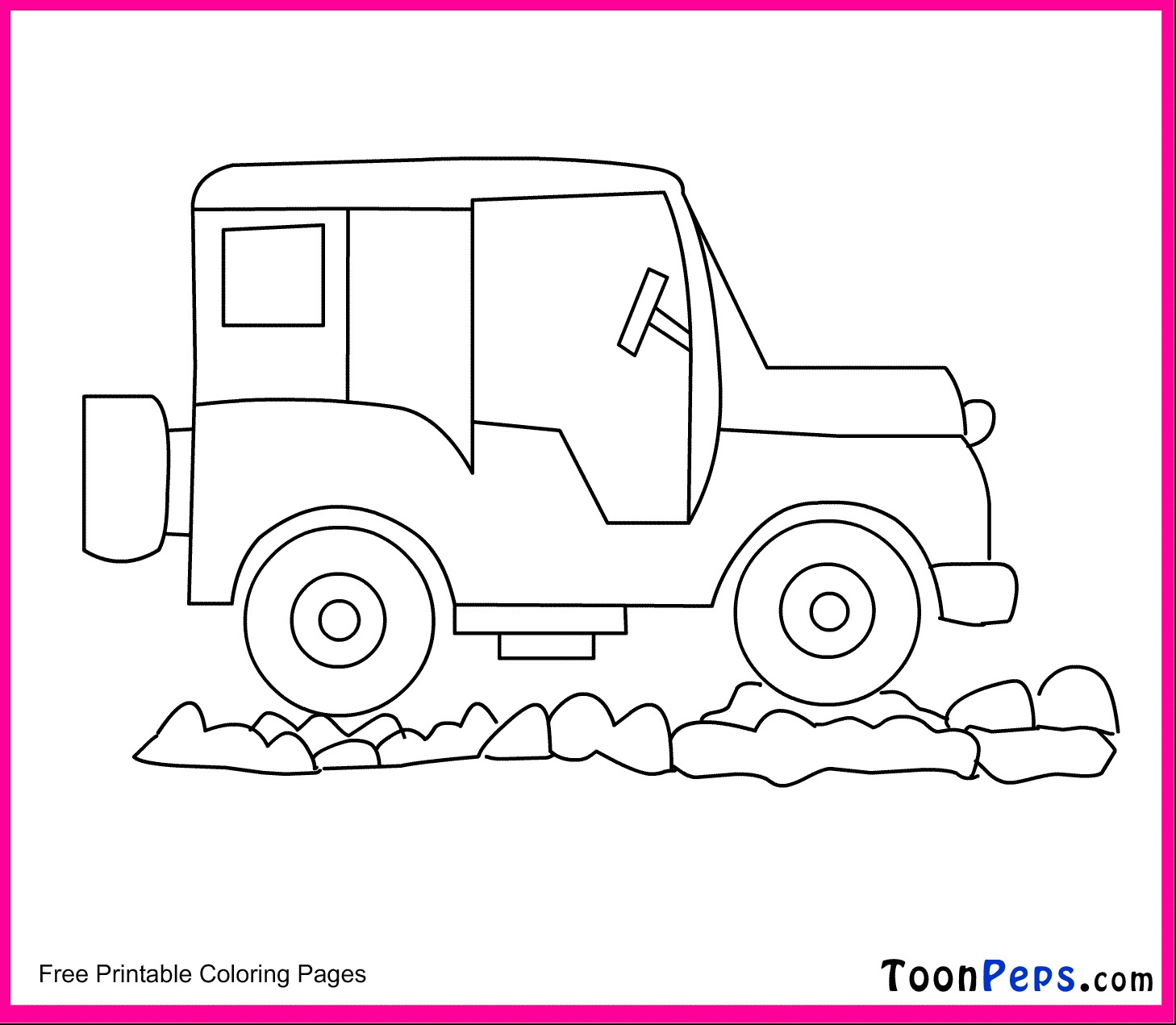 Jeep Coloring Pages - Pin Jeep Colouring Pages On Pinterest