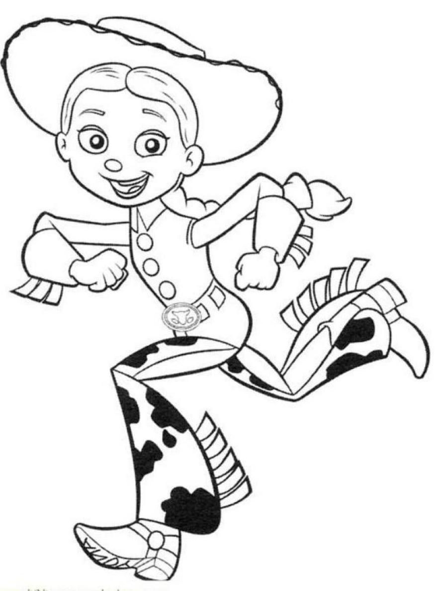 jessie coloring pages - toy story 2 jessie coloring pages