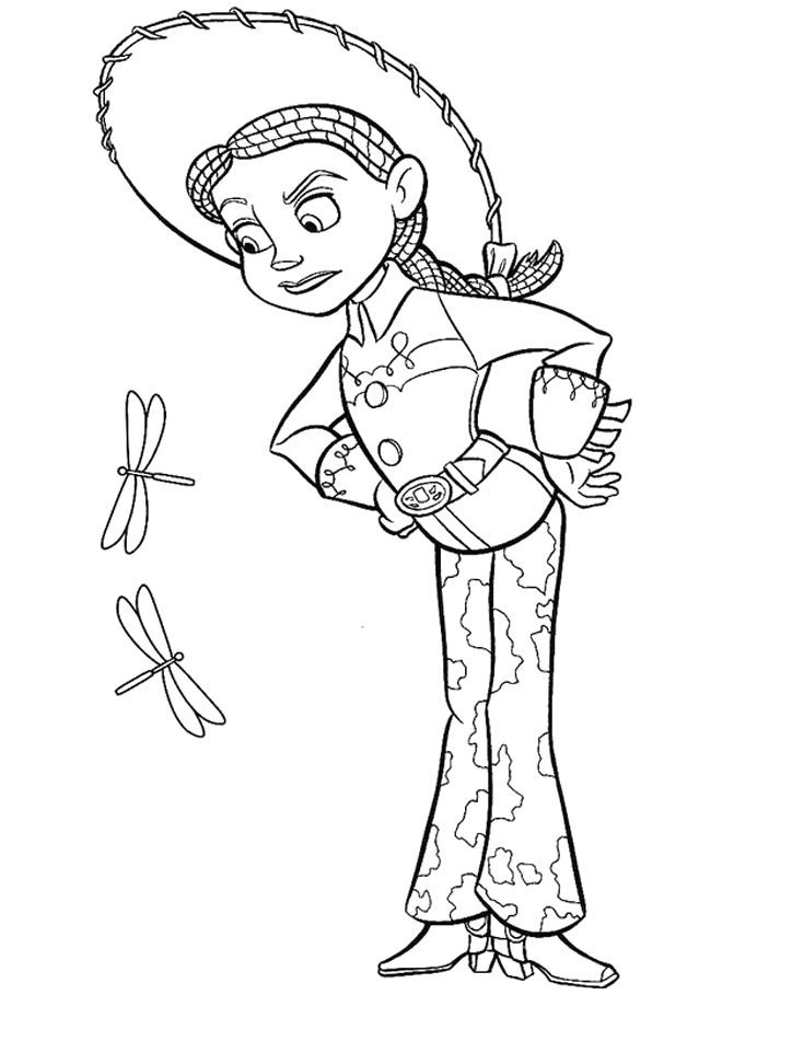 Jessie Coloring Pages - toy Story Jessie and Horse Coloring Pages toy Story